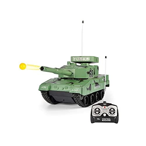 CUUGF Green Rc Battle Tank Hobby Hand Control RC BB Panzer Tank, Radio...