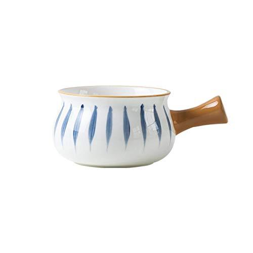 JLWM Suppenschüssel Mit Henkel Japan, 500ML Suppenschüsseln Aus Porzellan Keramik Ofen Mikrowelle Küche Für Nudeln Haferbrei Frühstück-A