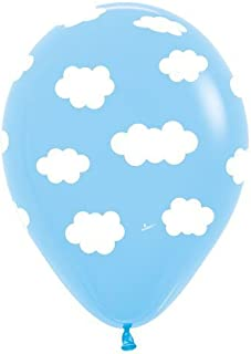 Clouds Latex Balloons - Bag of 10 Size 11 inches Air or Helium Fill