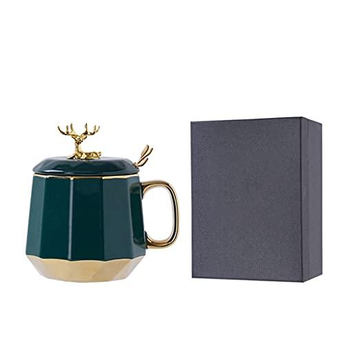 YIFEI2013-SHOP Tazas Taza de cerámica de cerámica para café, Taza de café Delicada Taza de Taza, y Bebidas reflexionadas, Pareja de Gafas para Beber con Caja de Regalo Tazas de Café (Color : D)