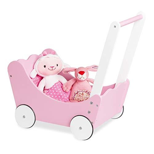 Pinolino 263412 Puppenwagen 'Jasmin' komplett, 4-teilig, rosa 1 stück