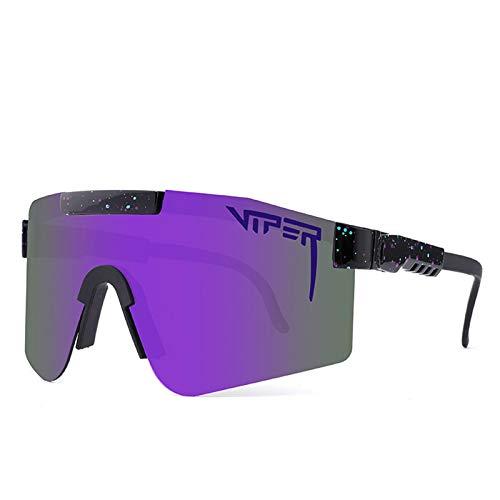 Gafas Sol Polarizadas Ciclismo Hombre Mujer UV400 Y Montura De TR-90, Gafas Sol Deportivas para Running MTB Bicicleta,4