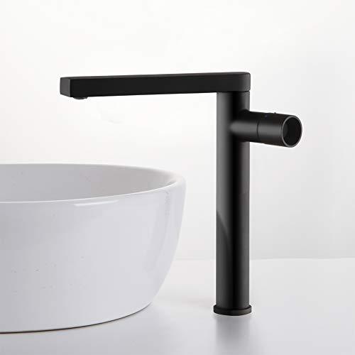 POP Design Mischbatterie Bad Wasserhahn Badarmatur Waschtischarmatur Waschbeckenarmatur Waschbecken Badezimmer Schwarz