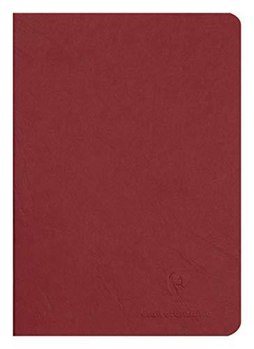 Clairefontaine 733102C Heft AgeBag (DIN A5, 14,8 x 21 cm, blanko, ideal für Ihre Notizen und Zeichnungen, 48 Blatt) 1 Stück rot