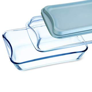 Simax Exclusive Clear Rectangular Glass Roaster | Includes Glass and Plastic Lid, Heat, Cold and Shock Proof, Made in Europe, 2.6 Quart