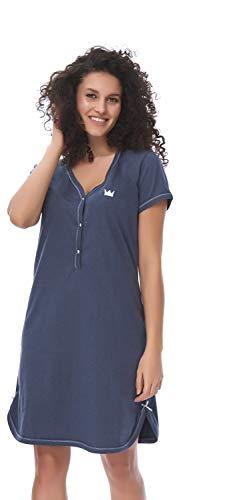 DN, Nachthemd, TCB.9505, deep.Blue, Gr. XL
