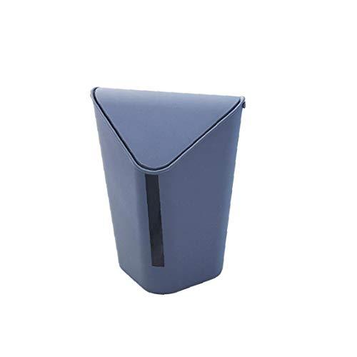 asdfwe Mini Bote De Basura De Plástico Esquina Papelera De Escritorio Papelera con Tapa Tirón La Caja De Almacenaje De Misceláneas Organizador