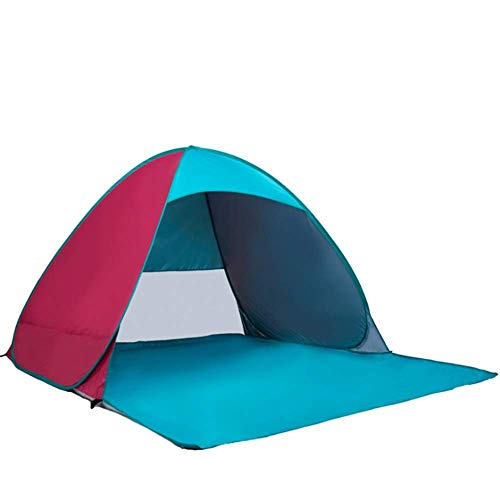 Travel mountaineering tent Colorful Color Family Anti-UV Beach Large Pop-up Umbrella Portable Sunscreen Sunshade Automatic Downhill Camping Fishing Hiking Picnic Outdoor Ultra-light Cabana Tent Suitab