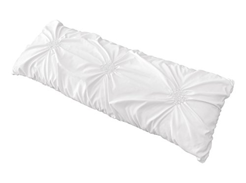 Sweet Jojo Designs Solid Color White Shabby Chic Body Pillow...
