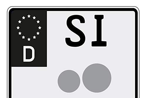 Ritter Mediendesign Aufkleber Motorrad Nummernschild Kennzeichen 2X EU-Feld in Schwarz überkleben Bike Sticker klein Waschstrassenfest
