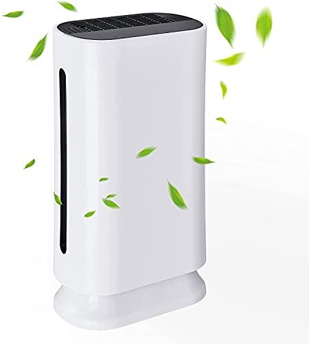 CO-Z Purificador de Aire con Filtro HEPA para Eliminar Bacterias Purificador de Aire Portátil con Modo de Sueño CADR 180m³/h hasta 50m2 Purifier Air de Carbón Activado y Luz UV