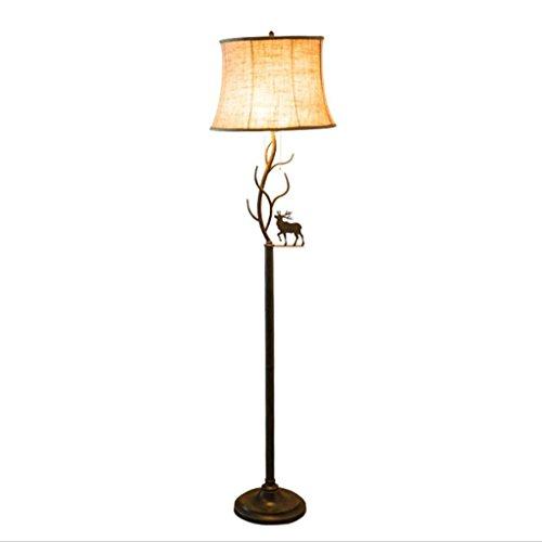 BTPDIAN Lámpara de pie de Mesa de café lámpara de Mesa Vertical Dormitorio lámpara IKEA Lámpara de pie nórdica (Color : A)