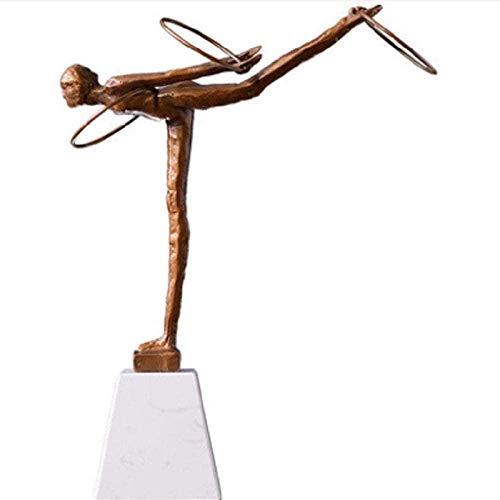 Wyposażenie domu Rzeźby Rzemiosło dekoracyjne Rocznica ślubu w domu Posągi Figurki Kolekcjonerskie Ozdoby Statuetki i figurki Baletki Figurki Dziewczynek Stare kute Gimnastyka Hula Hoop Sport Metal