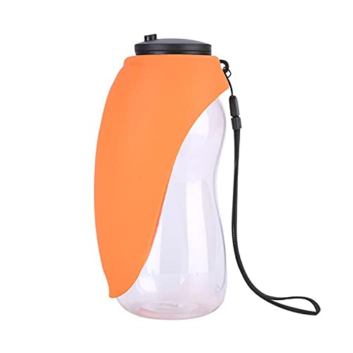 WWWFZS Dog Water Bottle Pet Dog Water Bottle Drinking Portable Bowls for Small Large Dogs Feeding Water Dispenser Accompanying Cup Cat Bowl(Color:Orange)
