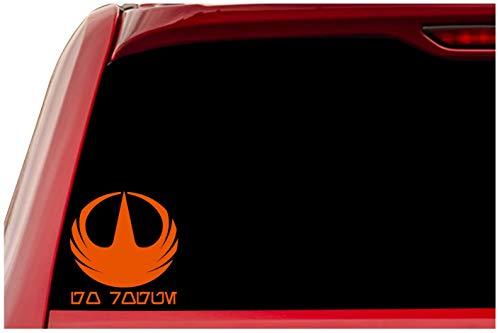 UR Impressions Rogue One Starbird – Go Rogue Aurebesh calcomanía de Vinilo para Autos, Camiones, SUV, Furgonetas, Paredes, Ventanas, Ordenador portátil
