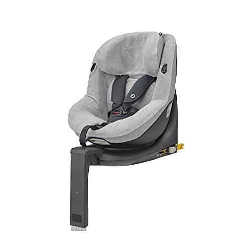 Maxi-Cosi Sommerbezug, passend für Maxi-Cosi Mica & Mica Up Kindersitz, Schonbezug für Autositz, Bezug für die warmen Sommertage, Fresh grey, Grau