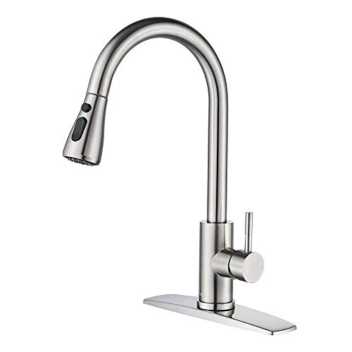 FORIOUS Kitchen Faucet with Pull Down Sprayer...