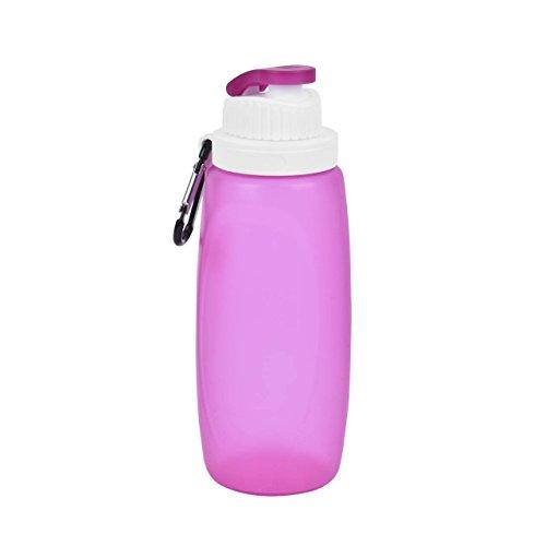 Eyourlife 324ML Pieghevole Bottiglia Acqua di Silicone Brocca Acqua Portatile e Leak Proof per Sport Viaggio Scuola