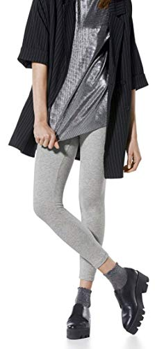 Esmara® Damen Leggings (hellgrau meliert, Gr. M - 40/42), aus Baumwolle