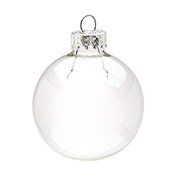 Darice Clear Heavy Duty Round Glass Balls – Removable Top - Can Be Painted Embellished and Filled – Make Customized Holiday Ornaments – Perfect for Crafting and Winter Décor 50mm  10 Pieces