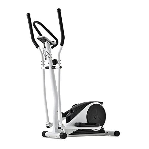 TT377 Bicicleta Elíptica | Bicicleta Elíptica con 8 Niveles De Resistencia Magnética, Sistema De Volante De Inercia De 10 Kg, Pantalla LCD Y Soporte para Teléfono Móvil, Sensor De Frecuencia Cardíaca