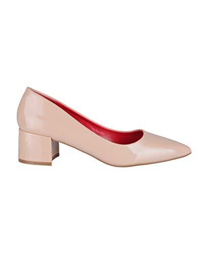 Scarpe da donna con tacco basso, décolleté con tacco largo