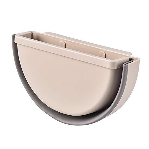 Adaap Cubo de basura plegable de gran capacidad para el hogar, oficina, cocina, dormitorio, baño, pared (beige)