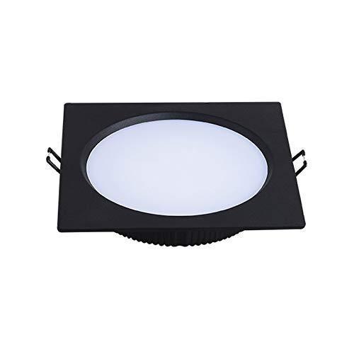 Empotrable empotrable LED de ahorro de energía ultrafino Cuadrado de aluminio Decoración interior para interiores Foco empotrado Luz de panel de techo para cocina Sala de estar Dormitorio (Color: 60