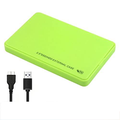 VCXZ Disco Duro Externo, Unidades de Disco Duro externas de 2.5 Pulgadas USB 3.0 1TB 2TB para PC portátil, Mac, Discos de Disco Duro móviles portátiles Ultra Slim,Verde,2TB