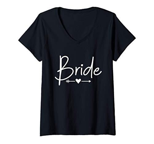 Mujer Despedida de soltera de la novia Camiseta Cuello V