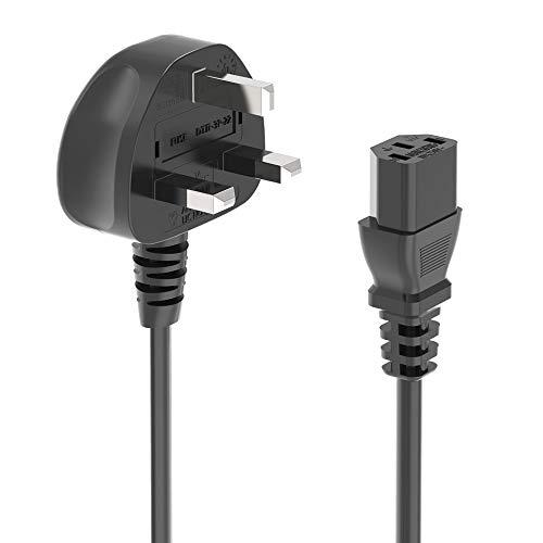 Ancable Cable de alimentación de 3 clavijas para Samsung, Dell, Sony, HP, LED LCD Smart TV Monitor, TV, impresora, PC, hervidor de agua y otros aparatos