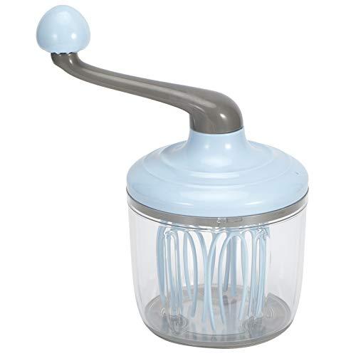 Manivela batidora de huevos, batidoras de mano con cuenco para huevos, crema, herramienta batidora de cocina