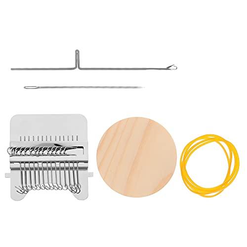 TOYANDONA Mini Weben Webstuhl Kit: Miniatur Holz Weben Maschine Handgemachte Stricken Webstuhl Geistigen Pädagogisches Spielzeug Knitter Spielzeug für Kinder Anfänger