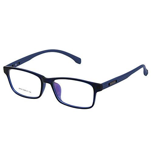 Hombres y mujeres todo el marco terminado gafas producto para la vista cercana marco de espectáculo cómodo tr 90 marcos de gafas ir junto con miras miradas espejo marco espejo, azul,