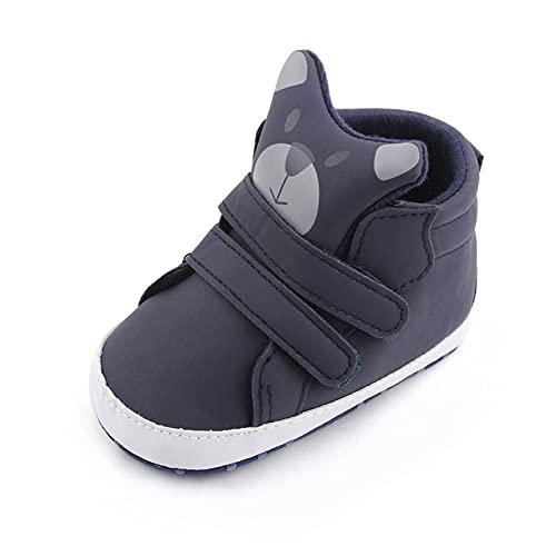 FURONGWANG6777BB Baby Boys Zapatillas de Deporte Imprimir Patrón de Dibujos Animados Suela Soft Soft First Walkers Infantil Zapatos de Interior DiDler 0-18m (Color : 2, Size : 12-18 Months)