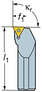 Square Shank Screw Clamp Sandvik Coromant SVJBL 1212F 11 Turning Insert Holder Left Hand 1.5 Steel External 12mm Width x 12mm Height Shank 1 Insert Size VBMT 2 80mm Length x 16mm Width