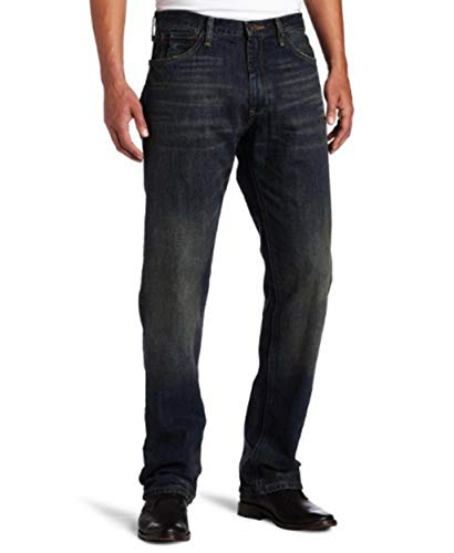 Nautica Jeans Men's Relaxed Cross Hatch Jean, Rigger Blue, 42Wx32L