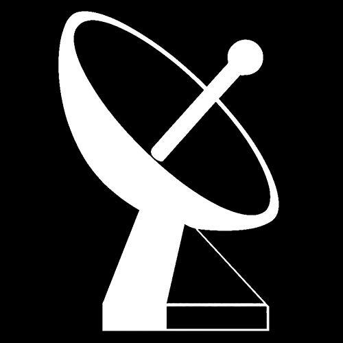 DSRLO Autoaufkleber 11,5 cm * 16,6 cm Bodenstation Satellitenschüssel Mode Vinyl Aufkleber Schwarz/Silber