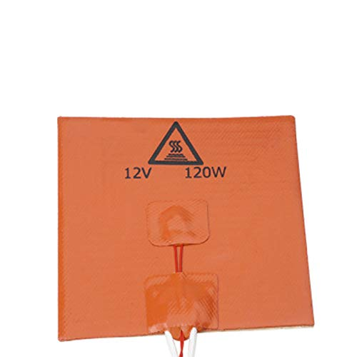 WZCXYX 3D Printer Hot Bed 3D Printer Accessories Silicone Hot Heated Bed Heating Pad(Size:120x120mm 12V 120W)