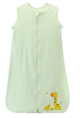 schlabigu schlafsack baby sommer mädchen junge Frühling schlafanzug baumwolle dünner neugeboren, 130CM (3-4Jahre ), Grün Giraffe Auto