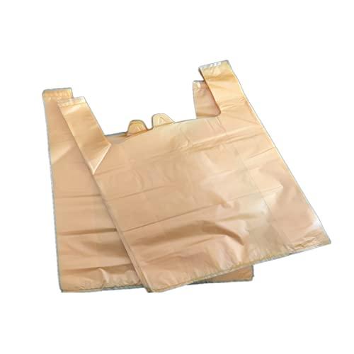 YRWL Bolsa de basura grande Bolsa de basura Protección del Medio Ambiente Bolsa de Embalaje Cocina Baño Bolsa de basura Tipo Chaleco Bolsa de basura Grande Amarillo 30*46 150 PC