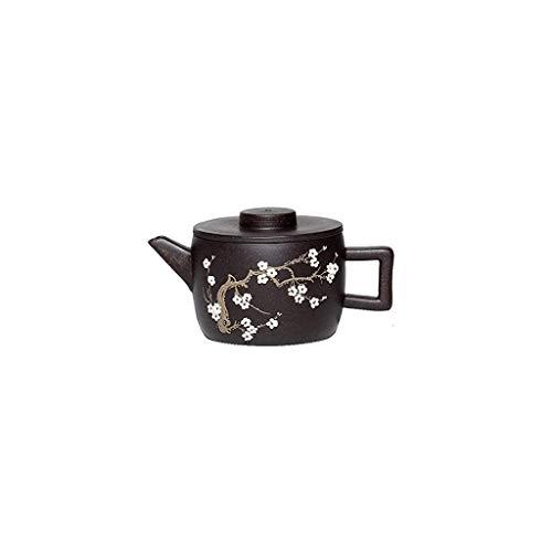 CUJUX Tetera Exquisita Negro, Ingenioso Hecho a Mano, Barro Mineral en Bruto, se Puede Utilizar for Hacer té