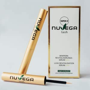 NuVega Eyelash SUPER-V - Verbessertes Veganes Wimpernserum, Wimpern Booster 3ml.