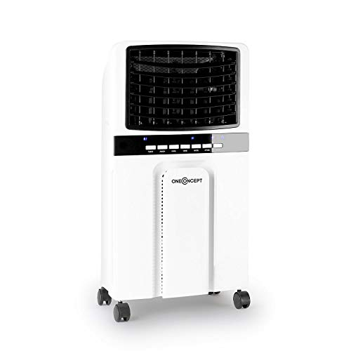 OneConcept Baltic Summer Edition - Air Cooler, Low Consumption, Freshener Function, Air Purifier, Humidifier, Flow 400m³ / h, 65W, 3 powers - Ivory