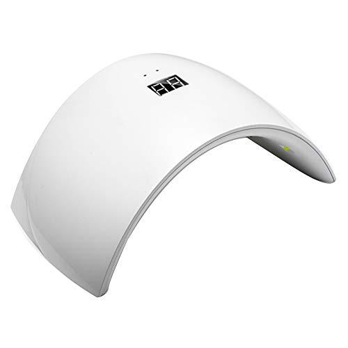 GUOLINGHUI LED Nail Séchoirs Lampe Ongles Portable Pratique USB Polonais Durcissement Dryer Outils À Ongles Professionnels avec 2 Timing (30 Ans / 60) Durable (Couleur : Blanc)
