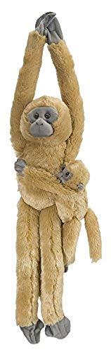 Wild Republic 14479 15262 - Plüschtier - Hanging Monkey - Langur, Mama mit Baby, 51 cm