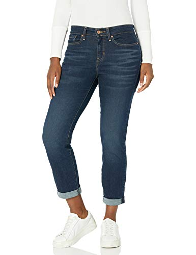 Signature by Levi Strauss & Co. Gold Label Women's Plus Mid Rise Slim Boyfriend Jeans, stormy sky Canada, 14