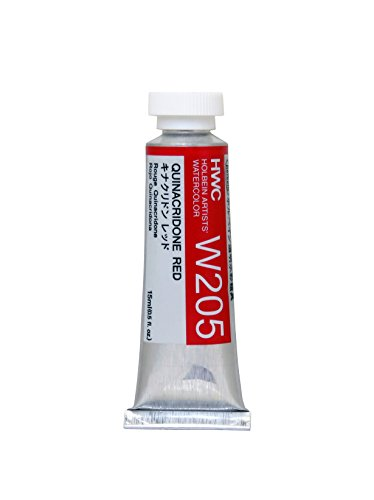 Holbein Artist's Watercolor 15ml Tube (Quinacridone Red) W205