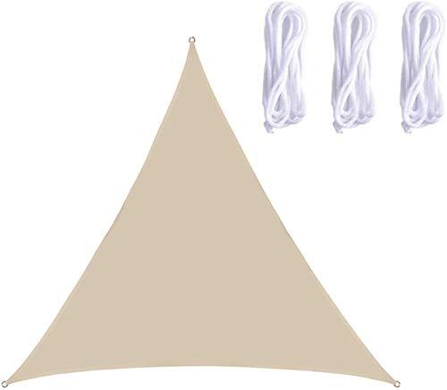 QYHSS Toldo De ProteccióN Solar, ProteccióN Contra Rayos UV, Sombra Triangular, ProteccióN Contra La Intemperie PoliéSter Balcones Y Terrazas JardíN, Para JardíN Aire Libre, Gris (3 * 3M)