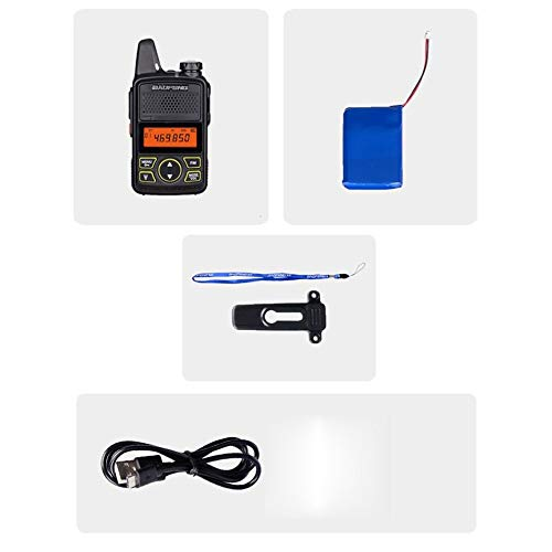 #N/D BF-T1 Mini Walkie Talkie Portatile Radio bidirezionale + Caricatore USB + Auricolari
